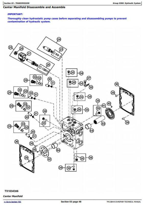 Second Additional product image for - John Deere 326E (SN. J247388-) Skid Steer Loader with EH Controls Service Repair Manual (TM13044X19)