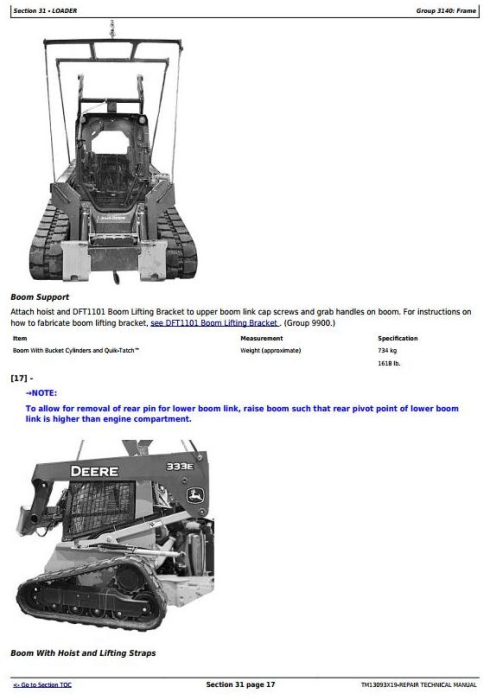 Third Additional product image for - John Deere 326E Skid Steer Loader with EH Controls Service Repair Technical Manual (TM13093X19)