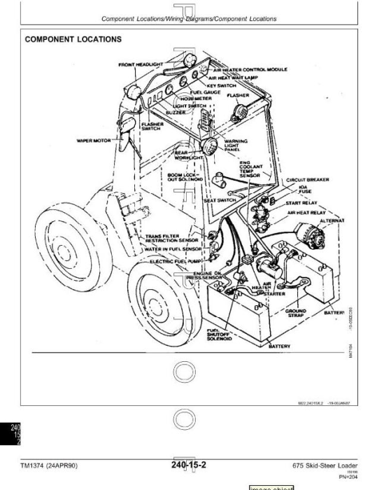 Third Additional product image for - John Deere Skid Steer Loader Type 675, 675B Diagnostic and Repair Technical Service Manual (TM1374)