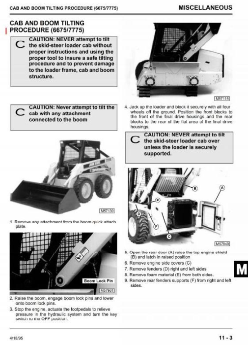 Fourth Additional product image for - John Deere 4475, 5575, 6675, 7775 Skid Steer Loader All Inclusive Technical Service Manual (TM1553)