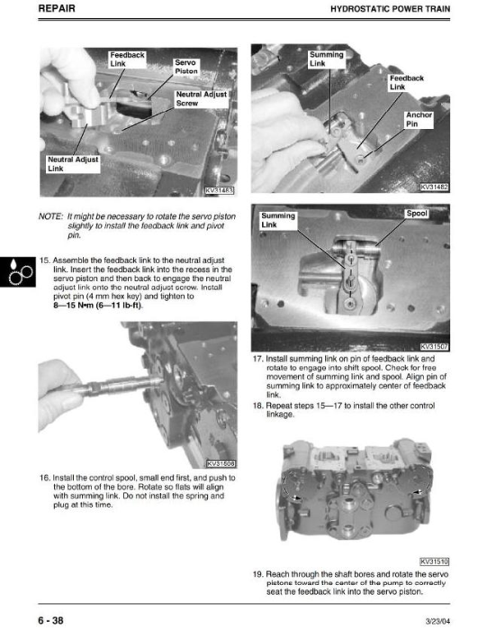 Second Additional product image for - John Deere Skid Steer Loader Type 280 Diagnostic and Repair Technical Service Manual (TM1749)