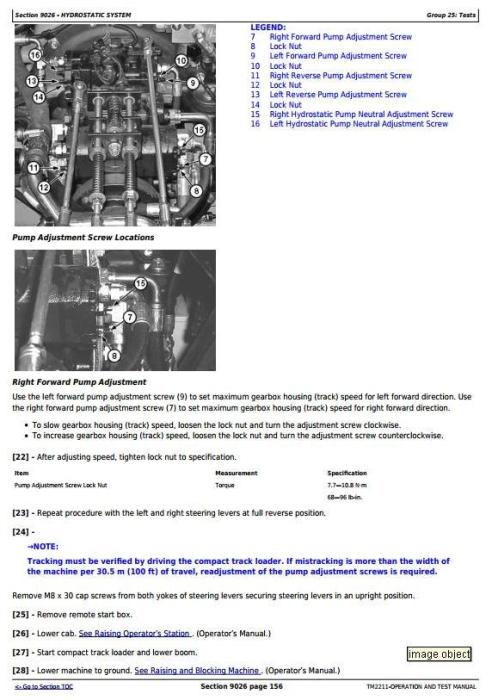 Third Additional product image for - John Deere 332 Skid Steer Loader, CT332 Compact Track Loader Diagnostic&Test Service Manual (TM2211)