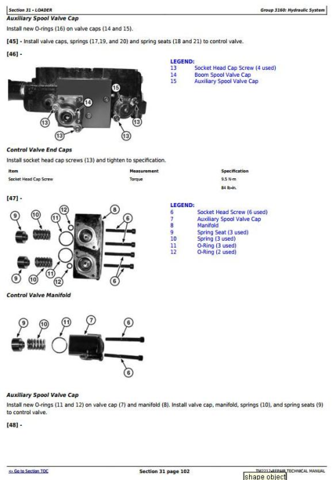 Third Additional product image for - John Deere 332 Skid Steer Loader, CT332 Compact Track Loader Service Repair Technical Manual TM2212