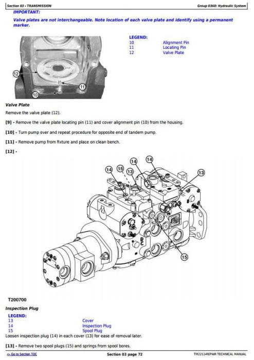 Fourth Additional product image for - John Deere 332 Skid Steer Loader, CT332 Compact Track Loader Service Repair Technical Manual TM2212