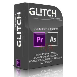 199+ glitch transitions for adobe premiere