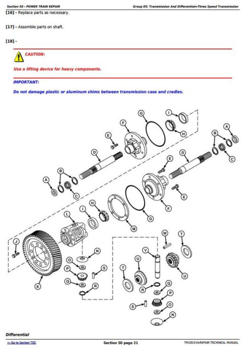 Third Additional product image for - John Deere 9570 STS, 9670 STS, 9770 STS and 9870 STS Combines Service Repair Manual (TM101919)