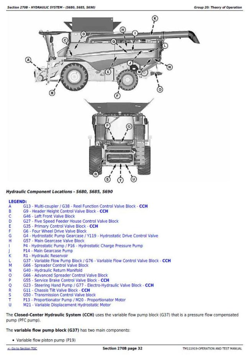 Fourth Additional product image for - John Deere S550, S660, S670, S680, S685, S690 STS Combines Diagnostic Service Manual (TM111919)