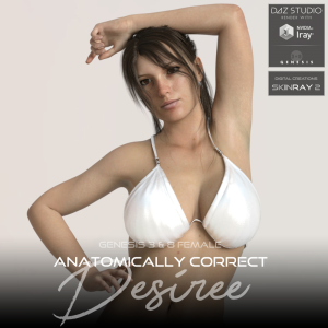 anatomically correct: desiree for genesis 3 and genesis 8 female