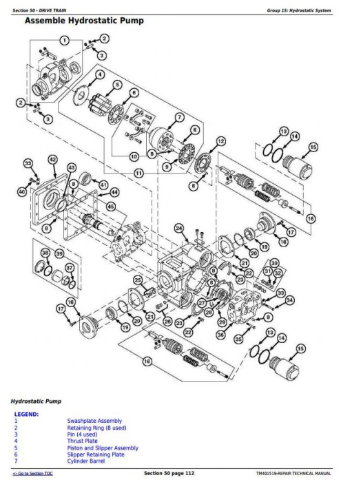 Third Additional product image for - John Deere W540, W550, W650, W660, T550, T560, T660, T670, C670 Combines Service Repair Manual (TM401519)