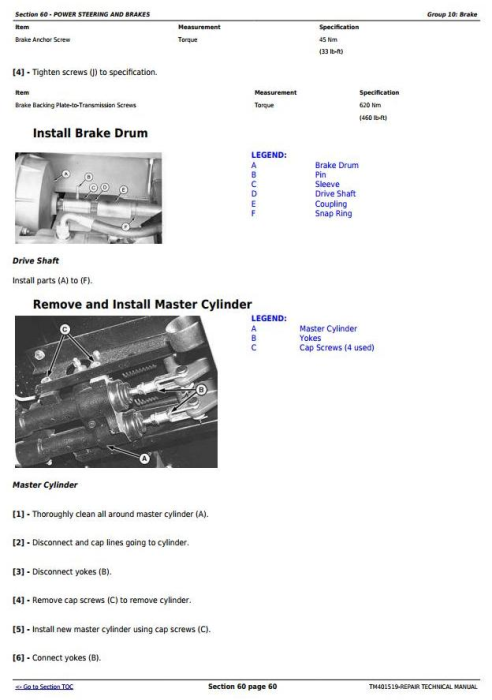 Fourth Additional product image for - John Deere W540, W550, W650, W660, T550, T560, T660, T670, C670 Combines Service Repair Manual (TM401519)