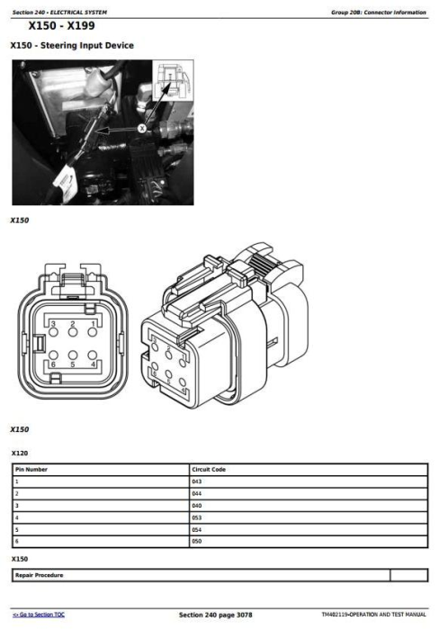 Third Additional product image for - John Deere Combines W540, W550, W650, W660, T550, T560, T660, T670 C670 Diagnostic Manual (TM402119)