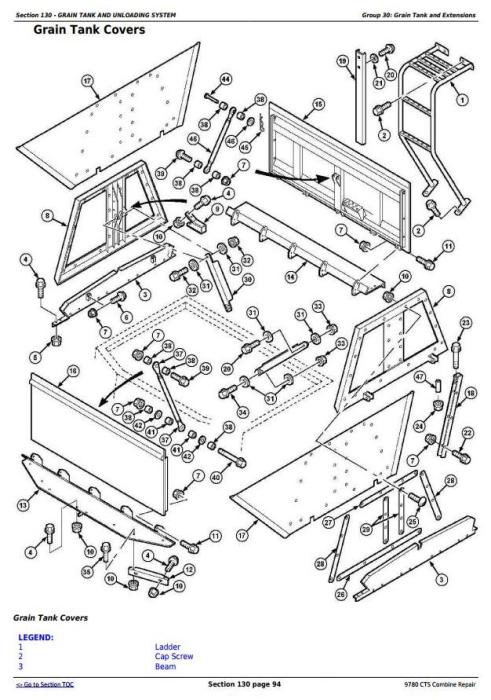John Deere 9780 CTS Combine (SN. from 072800) Repair