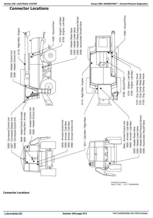Fourth Additional product image for - John Deere 9780 CTS Combines (European Version) Diagnosis and Tests Service Manual (tm4713)