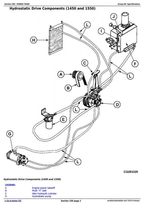 Fourth Additional product image for - John Deere 1450, 1550, 1450CWS, 1550CWS Combine (SN.047354-048750) Diag&Test Service Manual (tm4835)