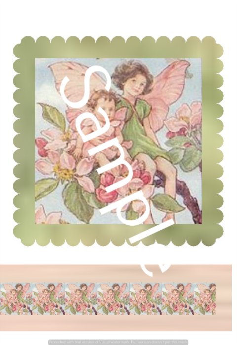 First Additional product image for - Apple Blossom - Craft papers for cardmaking and scrapbooking.