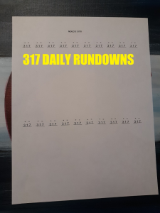 317 Rundown | Documents and Forms | Spreadsheets