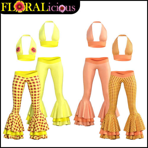 First Additional product image for - FLORALicious Styles for Flow dForce Outfit for Genesis 8 Female (G8F)