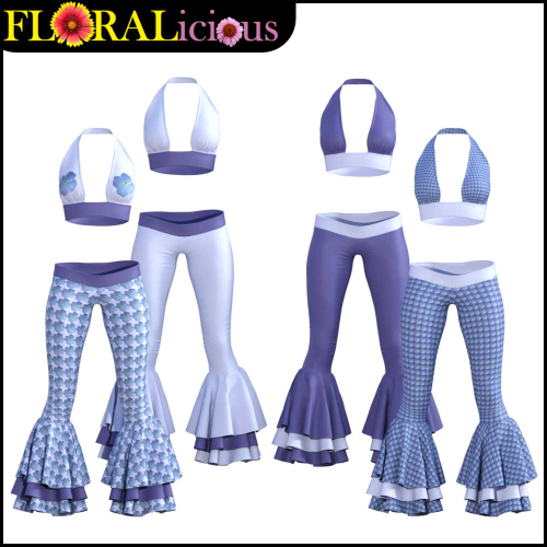 Second Additional product image for - FLORALicious Styles for Flow dForce Outfit for Genesis 8 Female (G8F)