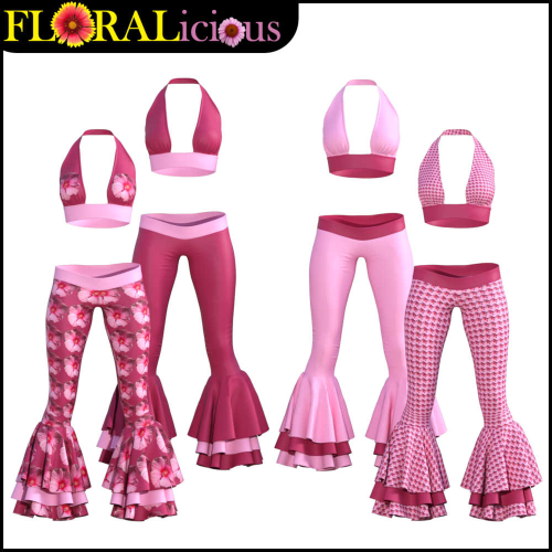 Third Additional product image for - FLORALicious Styles for Flow dForce Outfit for Genesis 8 Female (G8F)