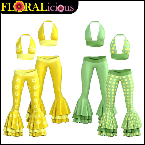 Fourth Additional product image for - FLORALicious Styles for Flow dForce Outfit for Genesis 8 Female (G8F)