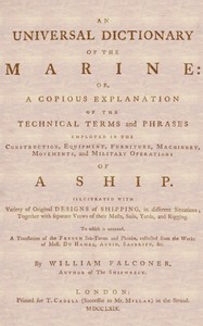 an universal dictionary of the marine by william falconer - digital book