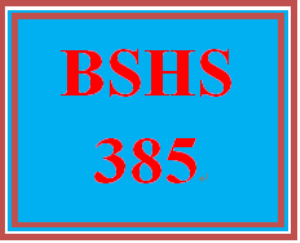 BSHS 385 Week 5 Interviews and Technology | eBooks | Education