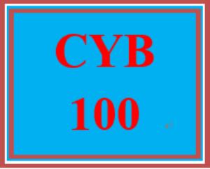 CYB 100 Entire Course | eBooks | Education