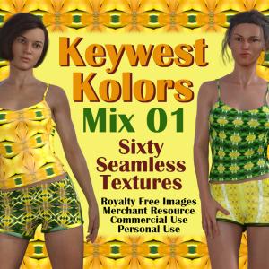 keywest kolors mix 01, 60-piece seamless texture collection (rf-mr-cu-pu)