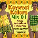 KEYWEST KOLORS Mix 01, 60-piece Seamless Texture Collection (RF-MR-CU-PU)   Photos and Images   Textures