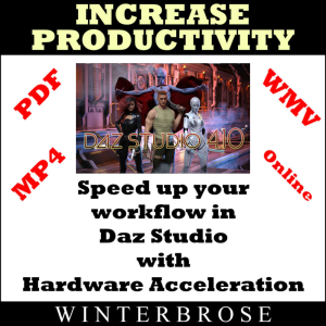 daz studio 4 users can increase productivity with hardware acceleration