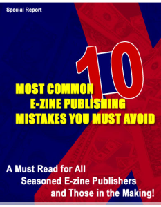 10 most common e-zine publishing mistakes pdf book with resell rights