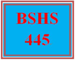 bshs 445 week 1 evolution of crisis intervention