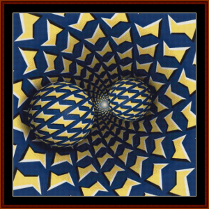 Optical Illusion #6 cross stitch pattern by Cross Stitch Collectibles | Crafting | Cross-Stitch | Other