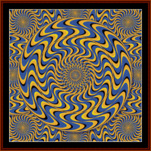 optical illusion #8 cross stitch pattern by cross stitch collectibles