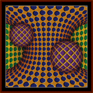Optical Illusion #9 cross stitch pattern by Cross Stitch Collectibles | Crafting | Cross-Stitch | Other