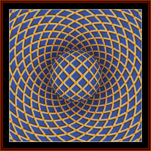 Optical Illusion #10 cross stitch pattern by Cross Stitch Collectibles | Crafting | Cross-Stitch | Other