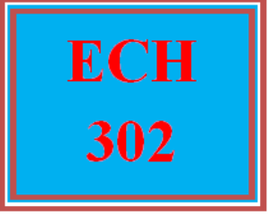 ECH 302 Week 2 Daily Schedule | eBooks | Education