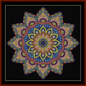 mandala 1 cross stitch pattern by cross stitch collectibles