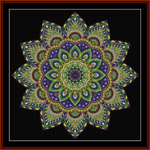 mandala 2 cross stitch pattern by cross stitch collectibles