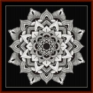 mandala 3 cross stitch pattern by cross stitch collectibles