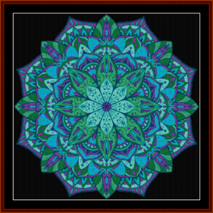 mandala 5 cross stitch pattern by cross stitch collectibles