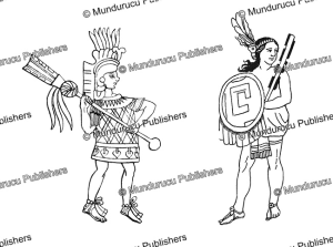 aztec warriors with the quauholo¯lli and macuahuitl war clubs, rudolf cronau, 1892.tif