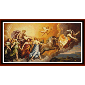 the triumph of aurora:  custom pattern by cross stitch collectibles