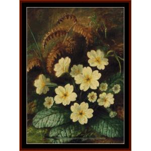 primrose - durer cross stitch pattern by cross stitch collectibles
