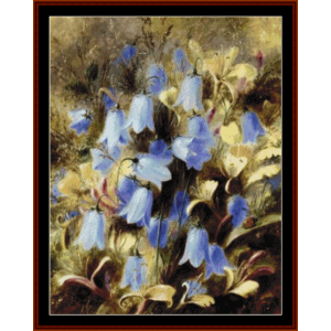 harebells - durer cross stitch pattern by cross stitch collectibles