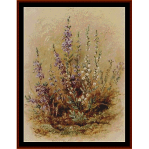 scotch heather and deer grass - durer cross stitch pattern by cross stitch collectibles