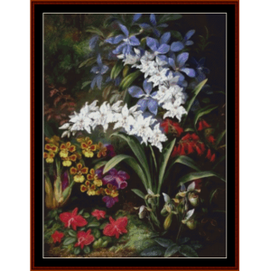 Orchids on Forest Floor - Durer cross stitch pattern by Cross Stitch Collectibles | Crafting | Cross-Stitch | Other