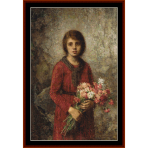 the artist's daughter - harlamoff cross stitch pattern by cross stitch collectibles
