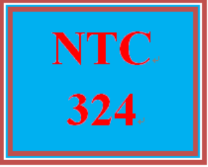 NTC 324 Week 2 Individual: Configure Disks, Volumes, and Server Storage | eBooks | Education