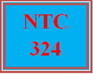 NTC 324 Entire Course | eBooks | Education